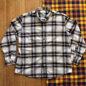 St. John's Bay Easy Care Light Flannel Button Down